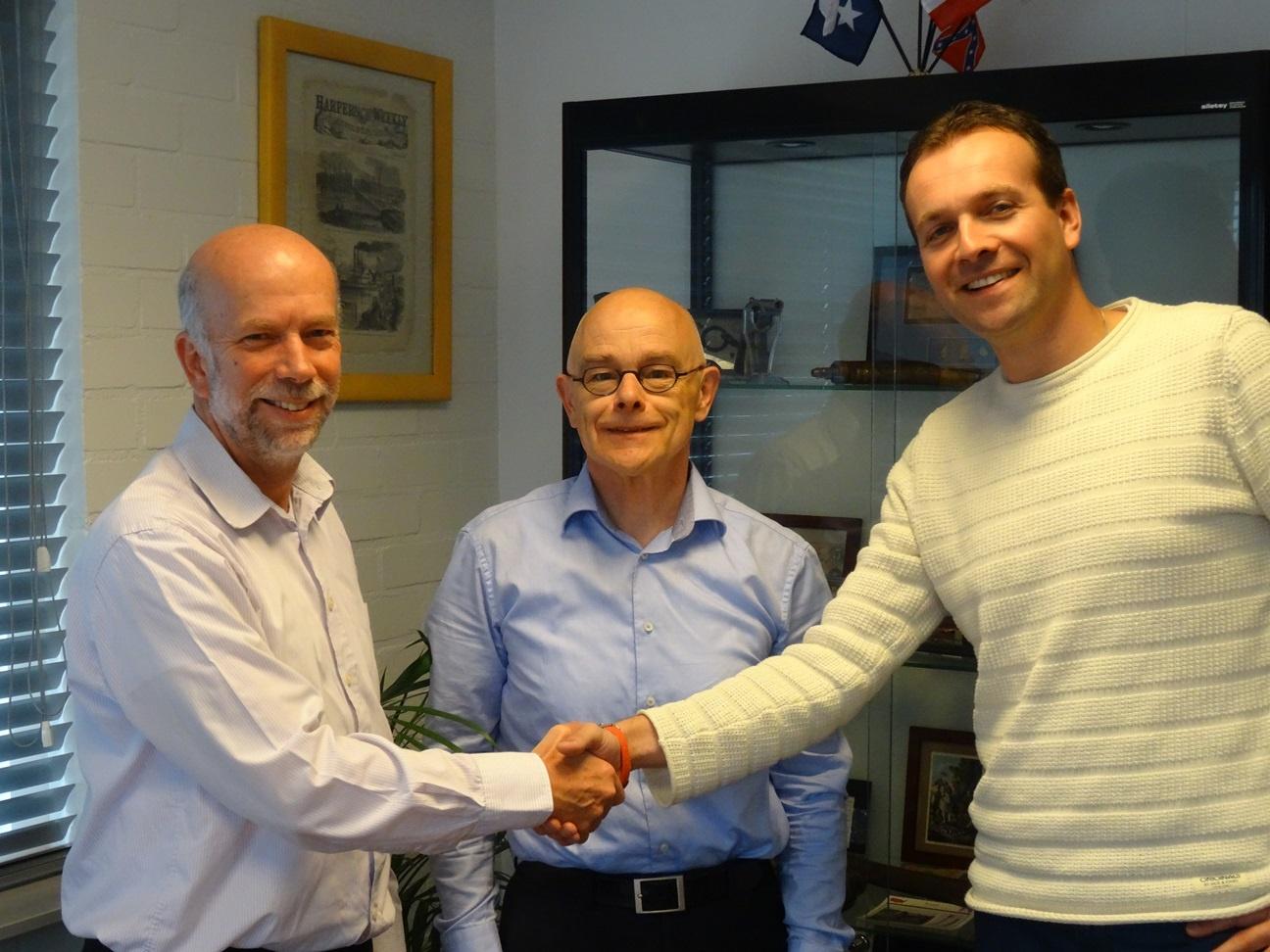 Mike James (ATS), Hans Damman (ATS) and Anco Euser (WIA)